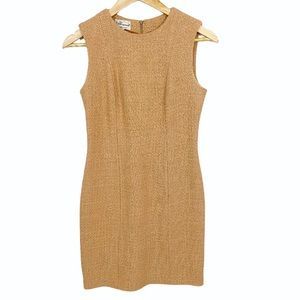 Blumarine 100% Wool Tan Sheath Dress